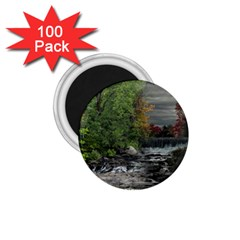 Landscape Summer Fall Colors Mill 1 75  Magnets (100 Pack)