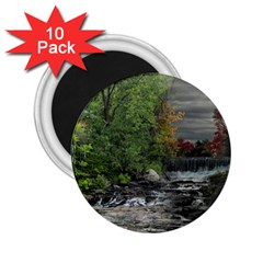 Landscape Summer Fall Colors Mill 2 25  Magnets (10 Pack)