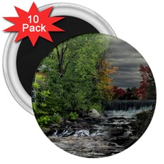 Landscape Summer Fall Colors Mill 3  Magnets (10 pack)