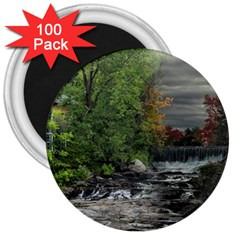 Landscape Summer Fall Colors Mill 3  Magnets (100 Pack)
