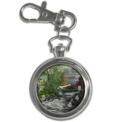 Landscape Summer Fall Colors Mill Key Chain Watches