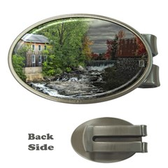 Landscape Summer Fall Colors Mill Money Clips (oval)