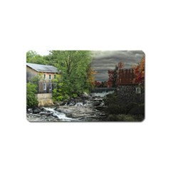 Landscape Summer Fall Colors Mill Magnet (Name Card)