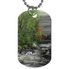 Landscape Summer Fall Colors Mill Dog Tag (two Sides)