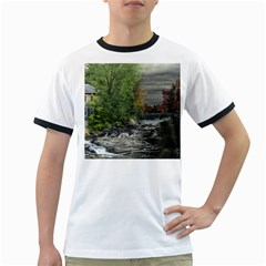 Landscape Summer Fall Colors Mill Ringer T-Shirts