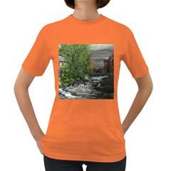 Landscape Summer Fall Colors Mill Women s Dark T-Shirt