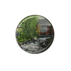 Landscape Summer Fall Colors Mill Hat Clip Ball Marker