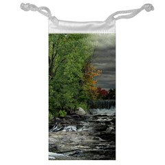 Landscape Summer Fall Colors Mill Jewelry Bag
