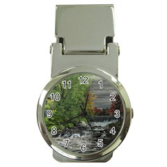 Landscape Summer Fall Colors Mill Money Clip Watches