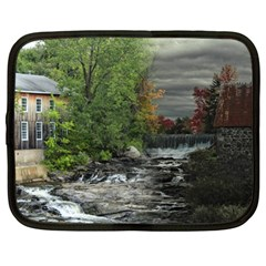 Landscape Summer Fall Colors Mill Netbook Case (Large)