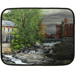 Landscape Summer Fall Colors Mill Fleece Blanket (mini)