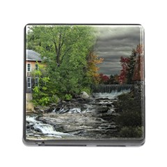 Landscape Summer Fall Colors Mill Memory Card Reader (square)
