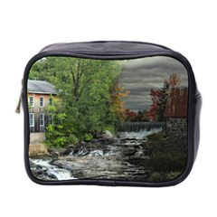 Landscape Summer Fall Colors Mill Mini Toiletries Bag 2 Side