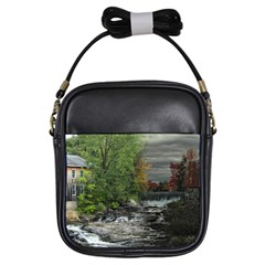 Landscape Summer Fall Colors Mill Girls Sling Bags