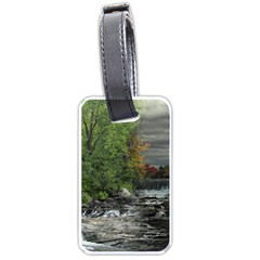 Landscape Summer Fall Colors Mill Luggage Tags (One Side)