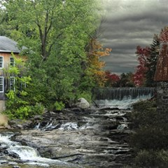 Landscape Summer Fall Colors Mill Magic Photo Cubes