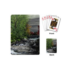 Landscape Summer Fall Colors Mill Playing Cards (mini)