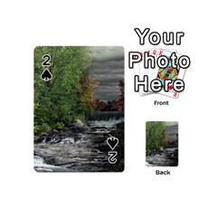 Landscape Summer Fall Colors Mill Playing Cards 54 (Mini)