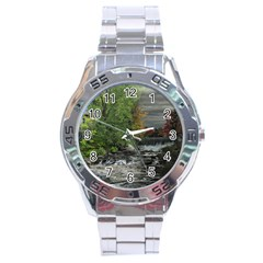 Landscape Summer Fall Colors Mill Stainless Steel Analogue Watch