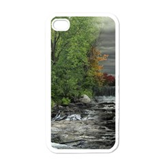 Landscape Summer Fall Colors Mill Apple Iphone 4 Case (white)