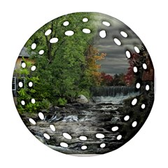 Landscape Summer Fall Colors Mill Round Filigree Ornament (2side)