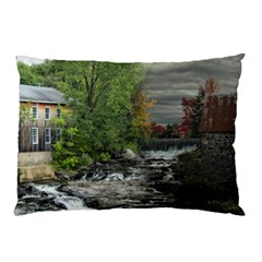 Landscape Summer Fall Colors Mill Pillow Case (two Sides)