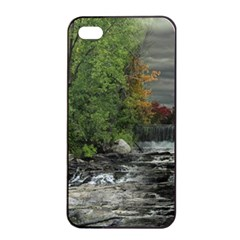 Landscape Summer Fall Colors Mill Apple Iphone 4/4s Seamless Case (black)