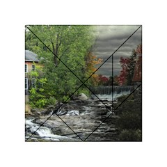 Landscape Summer Fall Colors Mill Acrylic Tangram Puzzle (4  X 4 )