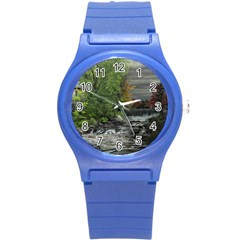 Landscape Summer Fall Colors Mill Round Plastic Sport Watch (s)