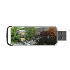 Landscape Summer Fall Colors Mill Portable Usb Flash (two Sides)