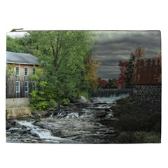 Landscape Summer Fall Colors Mill Cosmetic Bag (xxl)