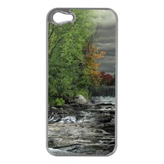 Landscape Summer Fall Colors Mill Apple Iphone 5 Case (silver)