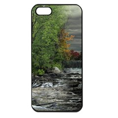 Landscape Summer Fall Colors Mill Apple Iphone 5 Seamless Case (black)