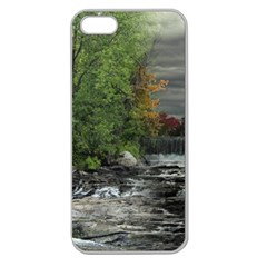Landscape Summer Fall Colors Mill Apple Seamless Iphone 5 Case (clear)