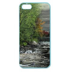 Landscape Summer Fall Colors Mill Apple Seamless Iphone 5 Case (color)