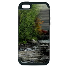 Landscape Summer Fall Colors Mill Apple Iphone 5 Hardshell Case (pc+silicone)