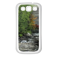 Landscape Summer Fall Colors Mill Samsung Galaxy S3 Back Case (white)