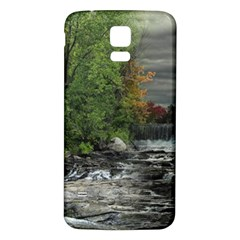 Landscape Summer Fall Colors Mill Samsung Galaxy S5 Back Case (white)