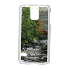 Landscape Summer Fall Colors Mill Samsung Galaxy S5 Case (white)