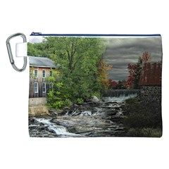 Landscape Summer Fall Colors Mill Canvas Cosmetic Bag (xxl)