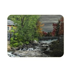 Landscape Summer Fall Colors Mill Double Sided Flano Blanket (mini)