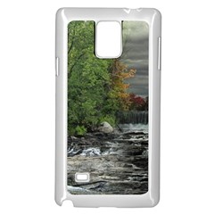Landscape Summer Fall Colors Mill Samsung Galaxy Note 4 Case (white)