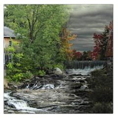 Landscape Summer Fall Colors Mill Large Satin Scarf (square)