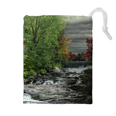 Landscape Summer Fall Colors Mill Drawstring Pouches (extra Large)