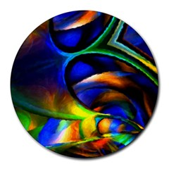 Light Texture Abstract Background Round Mousepads