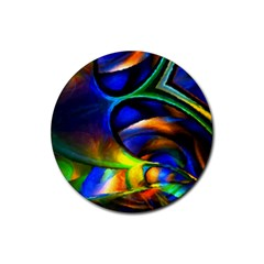 Light Texture Abstract Background Rubber Round Coaster (4 Pack)