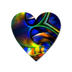 Light Texture Abstract Background Heart Magnet