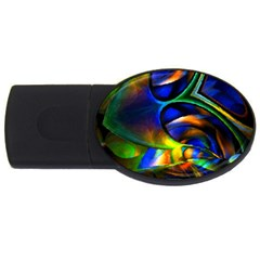 Light Texture Abstract Background USB Flash Drive Oval (1 GB)