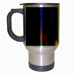 Light Texture Abstract Background Travel Mug (silver Gray)
