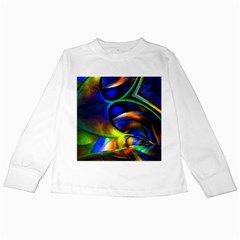 Light Texture Abstract Background Kids Long Sleeve T Shirts